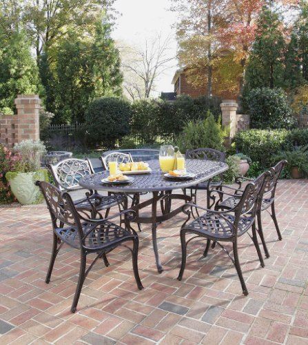 outdoor dining set rust bronze finish cheap patio furniture reviews