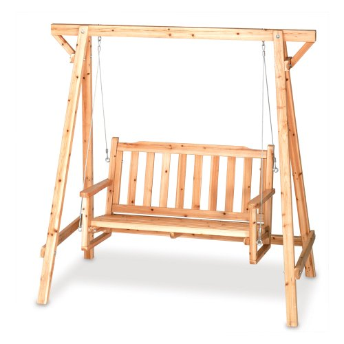 Weatherproof Wood Home Patio Garden Decor Bench Swing Cheap Patio Furniture Reviews